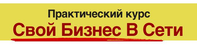 """Практический курс """"Свой Бизнес в Сети"""""""